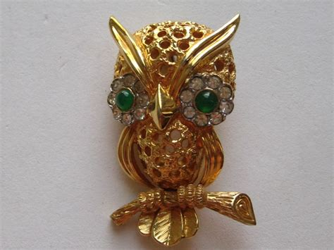 brooch owl rhinestone vintage jpg 1024x768